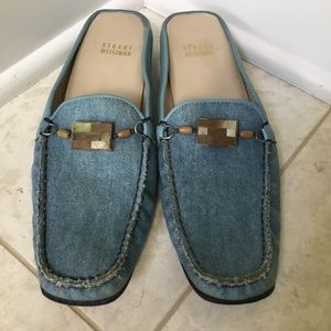 STUART WEITZMAN denim mule slip-on shoe 9.5 SS/AA